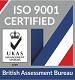 Logo of British Assessment Bureau who awarded ISO 9001 certification to Brooklynz metal fabrication Singapore