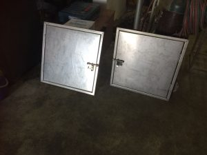 Two metal gates with lock - metal gates by Brooklynz