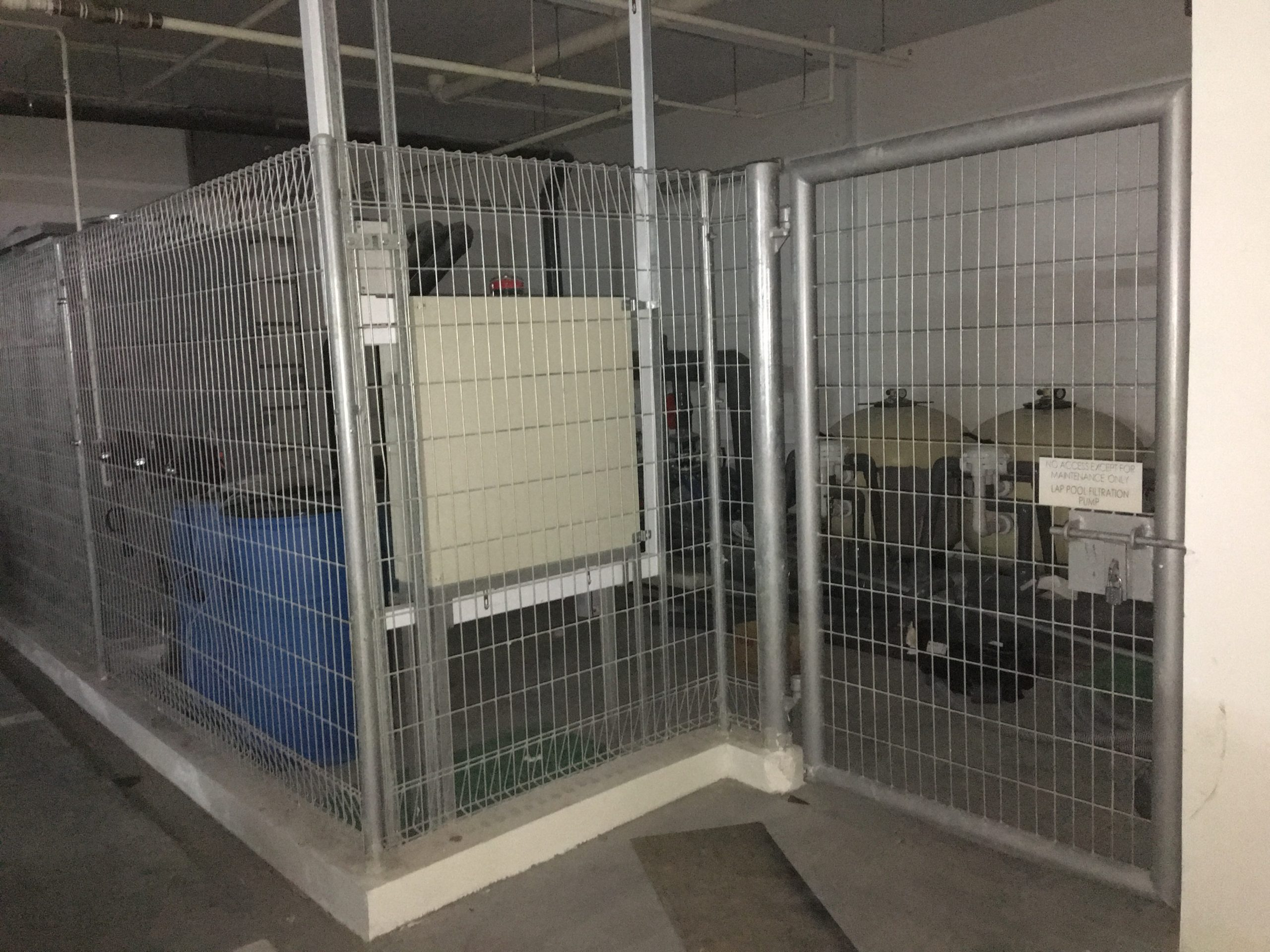 Room secured with fencing