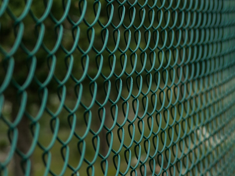 Steel Fencing painted with green color