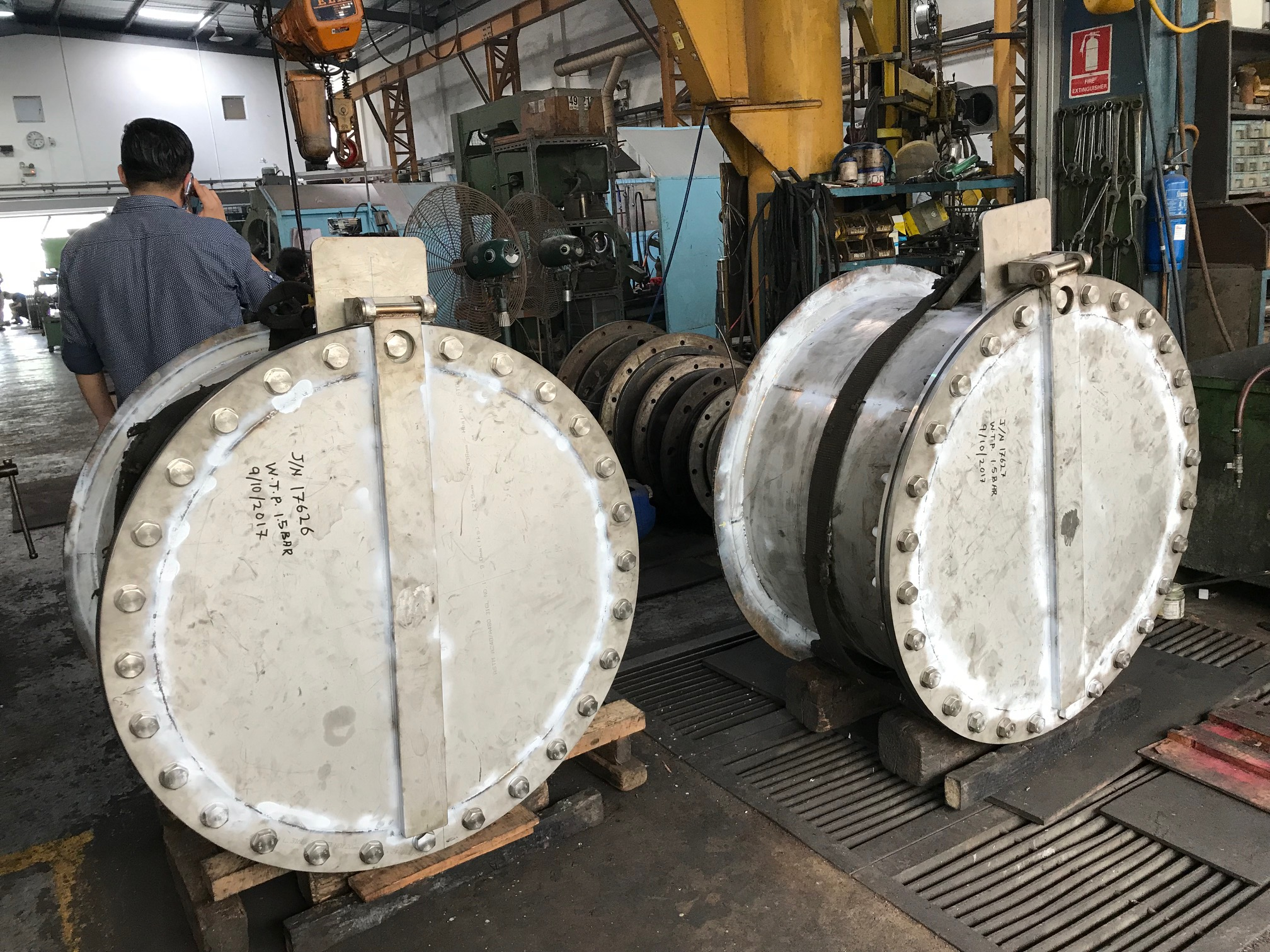 Image of submarine door and window by Brooklynz metal works Singapore