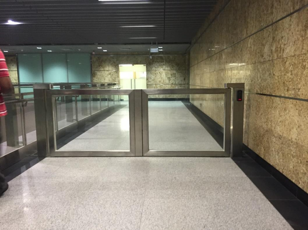 Quality stainless steel gates installed in public place