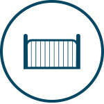 Icon of metal gate