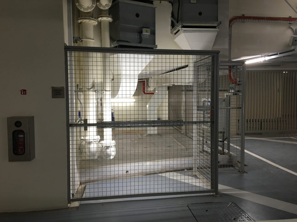 Quality mild steel gate installed at a restricted area of a building in Singapore