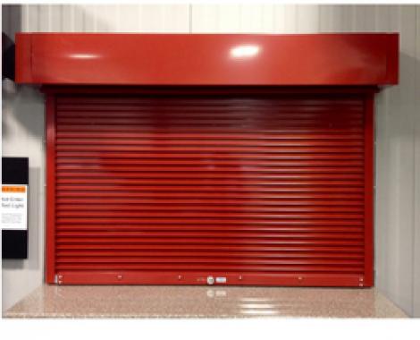 Fire-rated roller shutter door in Brooklynz