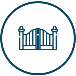 Icon image representing mild steel gate