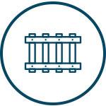 Icon image representing steel skids